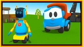 Cartoon Trucks - Leo And Liftys Robot Construction Cartoon