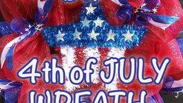 DIY 4th of July Patriotic Wreath - GiftBasketAppeal