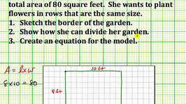 Create an Area Model For Division (Common Core 3/4 Math Ex 18)