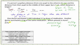 Compare Metric Units Using Metric Conversions (Unit Fractions)