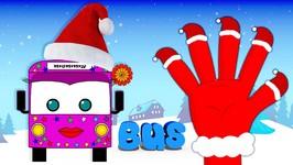 Christmas Wheels On The Bus Finger Family Nursery Rhyme - Finger Family - Wheels on the Bus