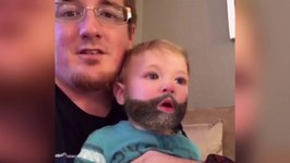 Snapchat Beard Filter Changes When Baby Sneezes