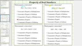 Id Real Number Properties: Distributive And Commutative