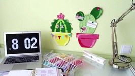 Back To School- Cactus Cork Board