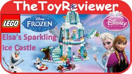 LEGO Frozen Disney Princess Elsas Sparkling Ice Castle Unboxing Toy Review