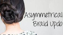 How To Do Asymmetrical Lace Braid Updo: Summer Hairstyles