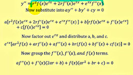 Linear Second Order Homogeneous Differential Equations - (two real equal roots)