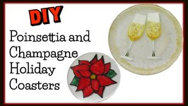 DIY Poinsettia and Resin Coasters -Another Coaster Friday Craft Klatch