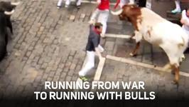 After Iraq: Vet finds his rush at Running of the Bulls