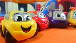 Learn Numbers With Vroomies And Robocar Poli - Counting Colored Toy Cars - Educational Videos For Kids