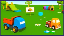 Kid's 3D Construction Cartoons For Children  Leo's Pick Up  Truck  Inspired By TuTiTu Cartoon