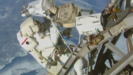 Astronauts Conduct Third Space-walk in Eight Days