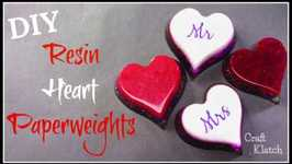Resin Heart Paperweights  Resin Crafts  Craft Klatch