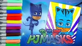 Coloring Pages Pj Masks : Coloring catboy pj masks kids coloring pages episode video by