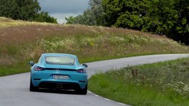 Porsche 718 Cayman S Miami Blue Driving Video Trailer