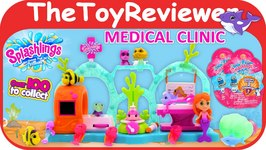 Splashlings Medical Clinic Playset Plus 6 Pack Plus Blind Bags Unboxing Toy Review