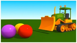 Children's 3D Cartoons - Learn Colors With Leo's Color Bulldozer Painting Lessons