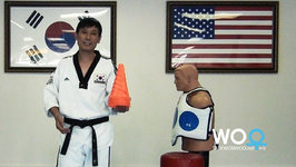 Taekwondo Training Tips - Practice Hook Kick On Kicking Bag (Taekwonwoo)