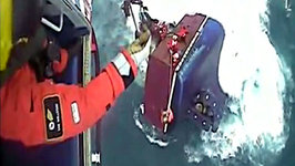 Watch the Dramatic Sea Rescue of Five Fishermen