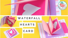Waterfall Card Tutorial - How to Make a Heart Waterfall Card - Interactive Pop-Up Card DIY