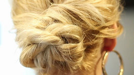 Easy Rope Braid Throwback Updo Tutorial