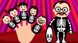 Finger Family Skeleton  Crazy Baby Skeleton Finger Family Nursery Rhymes  Finger Family Songs