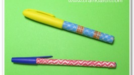 Washi Tape Pens and Markers School Supplies Makeover