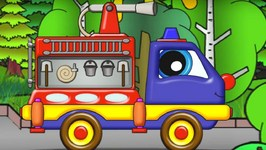 Cartoons For Kids   Fire truck Helpy  Transformer Truck  Car Cartoon And Animation For Kids