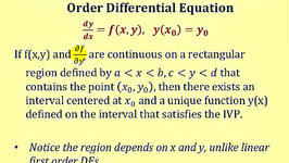 Find the Region a First Order Differential Equation Has a Unique Solution Through a Point - Part 2