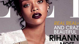 Rihanna Without a Shirt in Elle Magazine USA