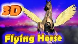 Flying Horse Finger Family 3D  Animals Cartoons Finger Family Children Nursery Rhymes