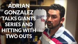 Adrian Gonzalez Talks Giants Series And Hitting With Two Outs