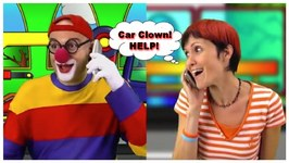 Toy Cars Clown - Help (Masha And The Clown) Tow Truck Rescue And Repair Garage