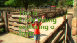This is Emily Yeung exploring a farm.