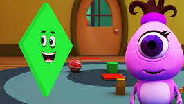 The Shape Diamond - Monster Family Colors and Shapes