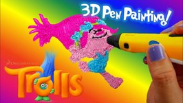 Dreamworks Trolls POPPY Coloring With 3D Pen - Trolls Coloring Pages for Kids