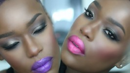 Hot Cocoa Candy kiss - Bright Holiday Makeup Dark Skin