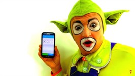 Funny clown videos for kids. Andrew the clown becomes a coach
