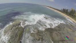 DJI Phantom Quadcopter On Buddina Beach, Sunshine Coast, Queensland Australia