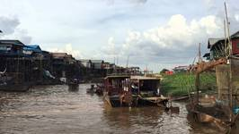 Kampong Phluk by boat - Cambodia