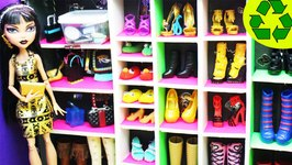 Crafts For Dolls How To Make A Walk In Shoe Closet
