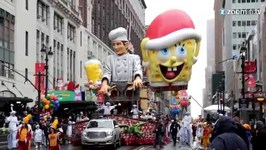 Balloons, Protesters and Arrests at Macy's Parade