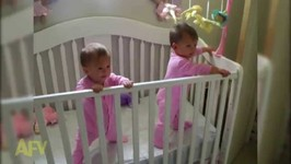 Adorable Twins Sneeze At The Same Time