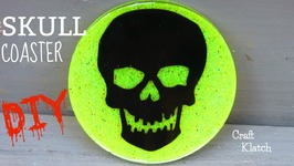 DIY Skull Coaster  Halloween Crafts  Another Coaster Friday