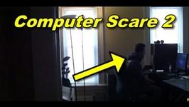 Funny Pranks Computer Scare 2 Prank