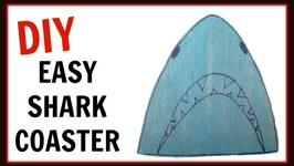Shark Drink Coasters DIY  Home Decor  Inspired by Shark Week  Craft Klatch  How To