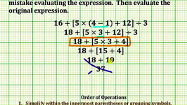 Find an Error and Simplify an Expression (Common Core Math 5/6 Ex 13)