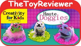 Creativity for Kids Haute Doggies Decorate 3 Bobble-Head Pups Unboxing Toy Review by TheToyReviewer