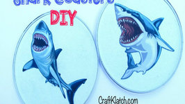 Shark Coaster DIY Another Coaster Friday Craft Klatch
