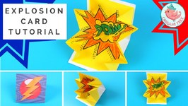 Explosion Card Tutorial - How to Make a Pop-Up Exploding Card COMIC BOOK STYLE